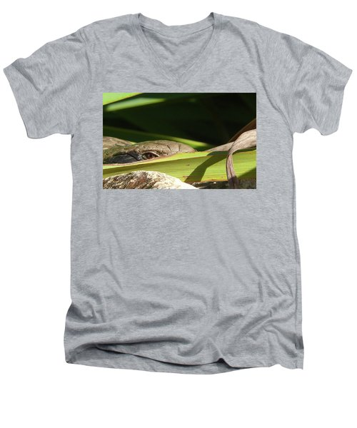 Eye Contact Men's V-Neck T-Shirt by Evelyn Tambour
