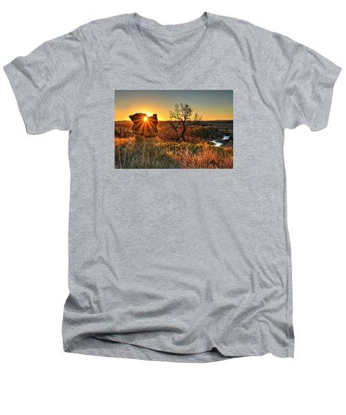 Eye Of The Monolith Men's V-Neck T-Shirt by Fiskr Larsen