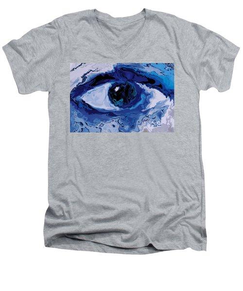 Eye Men's V-Neck T-Shirt by Rabi Khan