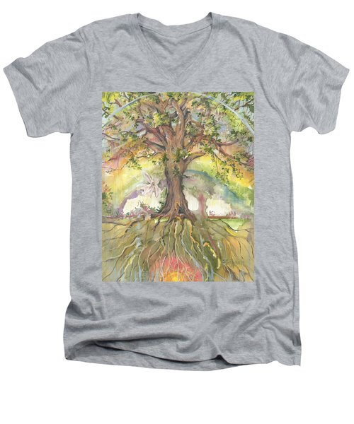 Eye See My Healing Tree Men's V-Neck T-Shirt