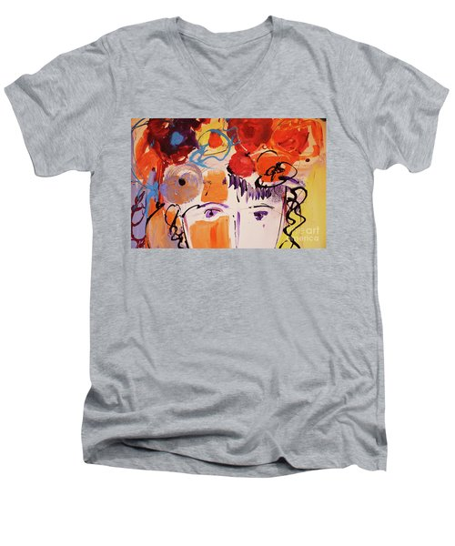 Eyes And Flowers Men's V-Neck T-Shirt