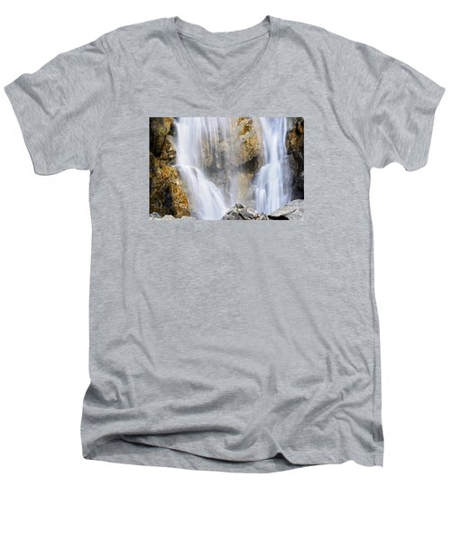 Eyes In The Rocks- Holland Falls  Men's V-Neck T-Shirt