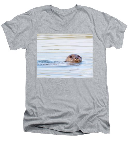 Men's V-Neck T-Shirt featuring the photograph Eyes Of Doubt by Debbie Stahre