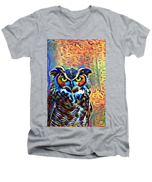 Men's V-Neck T-Shirt featuring the photograph Eyes Of Wisdom by Geri Glavis
