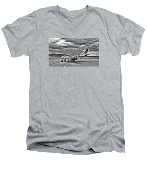 F-86 Sabre Men's V-Neck T-Shirt by Douglas Castleman