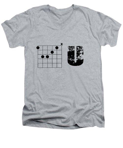 F Chord U Men's V-Neck T-Shirt by Bill Cannon