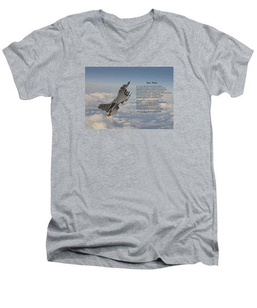 F16 - High Flight Men's V-Neck T-Shirt by Pat Speirs