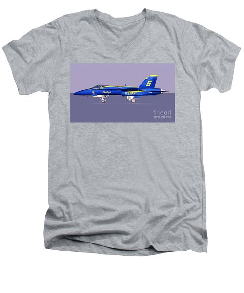 F18 Super Hornet Men's V-Neck T-Shirt