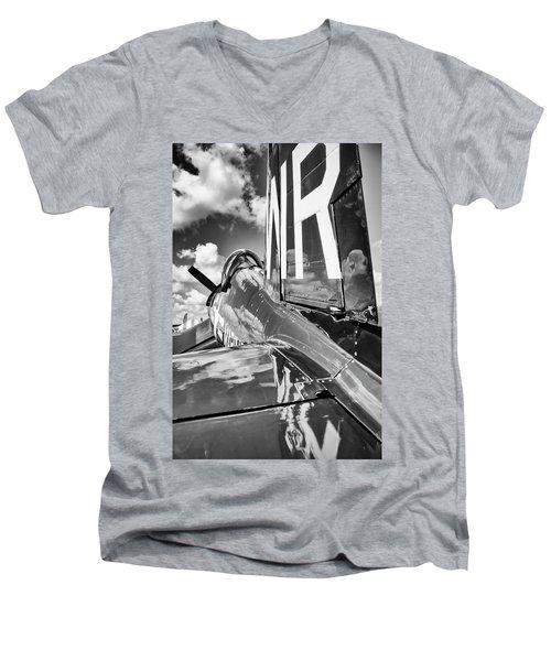 F4U Men's V-Neck T-Shirt