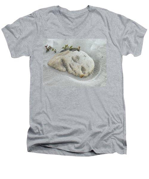 Face In The Sand At Baird Glacier Outwash Men's V-Neck T-Shirt