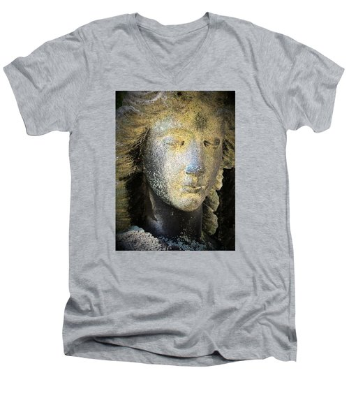 Face Of An Angel 10 Men's V-Neck T-Shirt by Maria Huntley