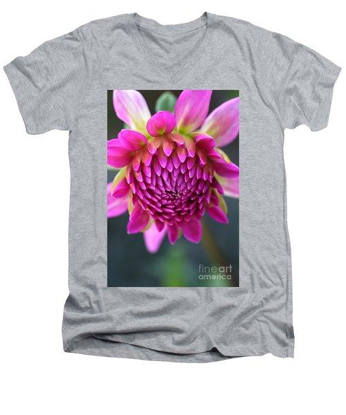 Face Of Dahlia Men's V-Neck T-Shirt