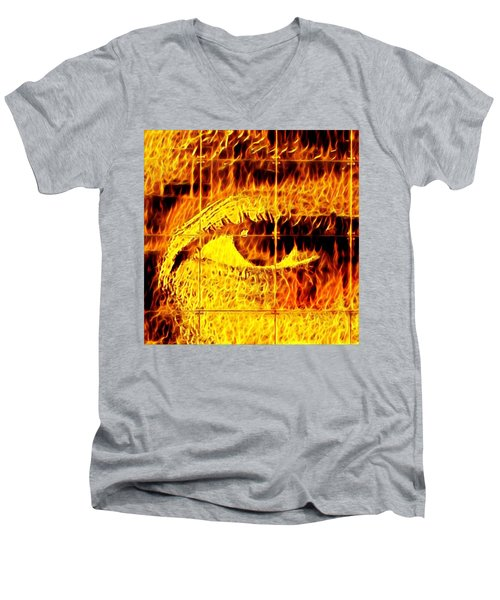 Face The Fire Men's V-Neck T-Shirt