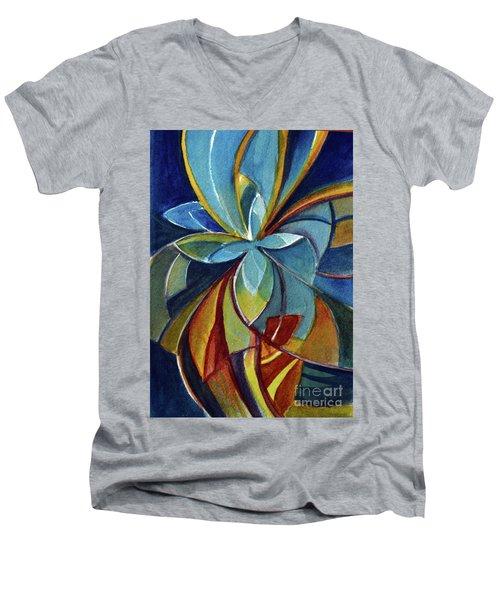 Fractal Flower Men's V-Neck T-Shirt