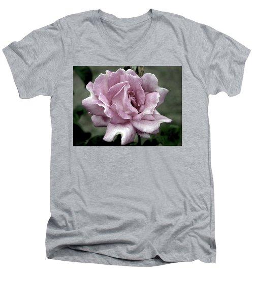 Faded Beauty Rose 0226 H_2 Men's V-Neck T-Shirt