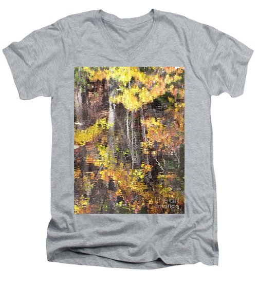 Fading Fall Water Men's V-Neck T-Shirt by Melissa Stoudt