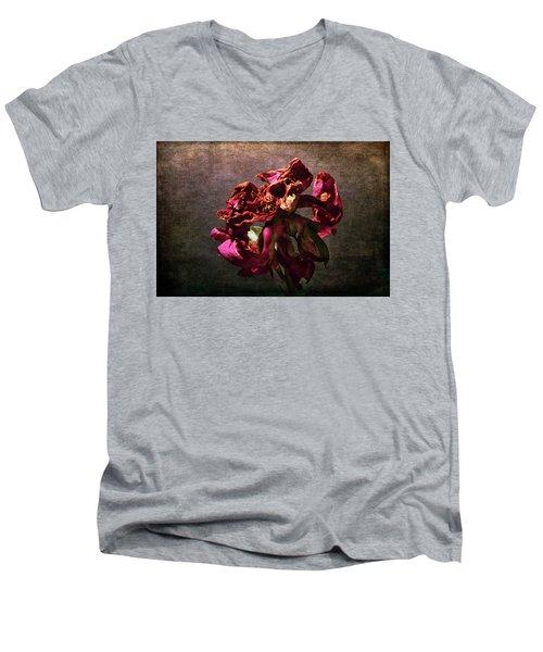 Men's V-Neck T-Shirt featuring the photograph Fading Glory by Randi Grace Nilsberg