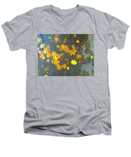 Fading Leaves Men's V-Neck T-Shirt