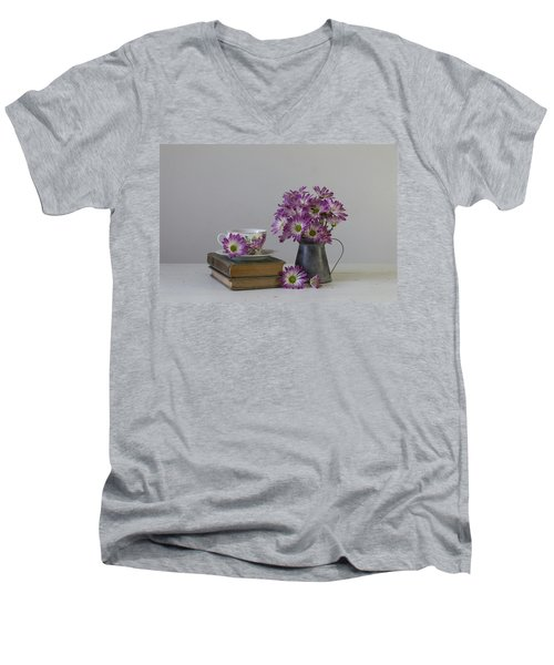 Men's V-Neck T-Shirt featuring the photograph Fading Memories by Kim Hojnacki