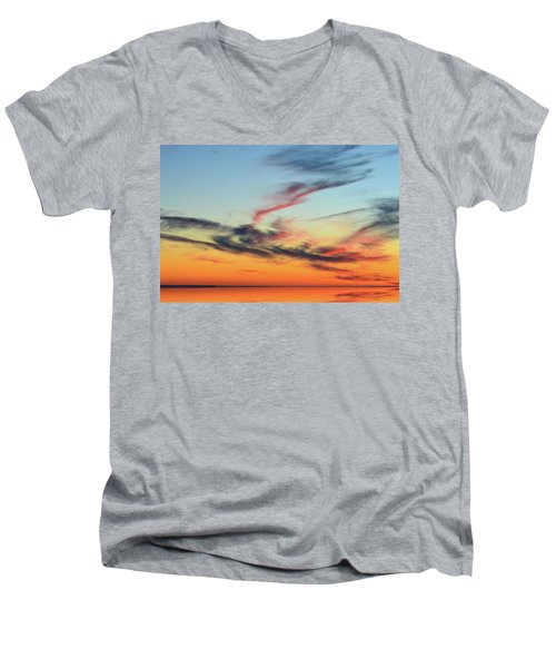 Fading Pink Reflection  Men's V-Neck T-Shirt