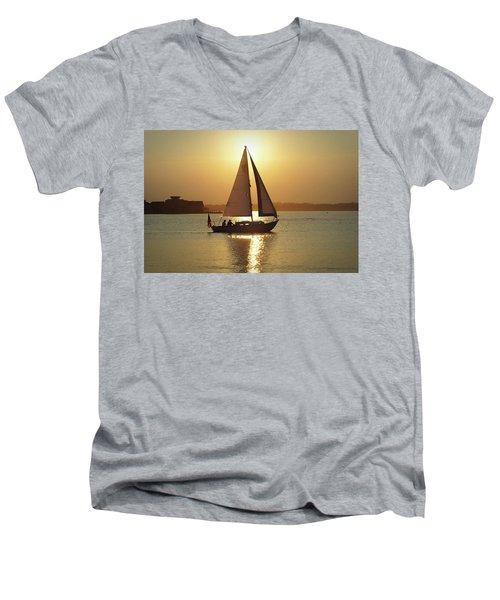 Fading Sun Men's V-Neck T-Shirt