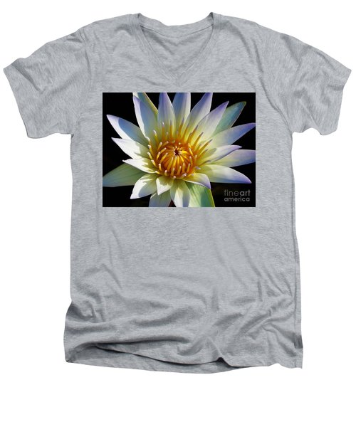 Men's V-Neck T-Shirt featuring the photograph Fairest Lily by Chad and Stacey Hall