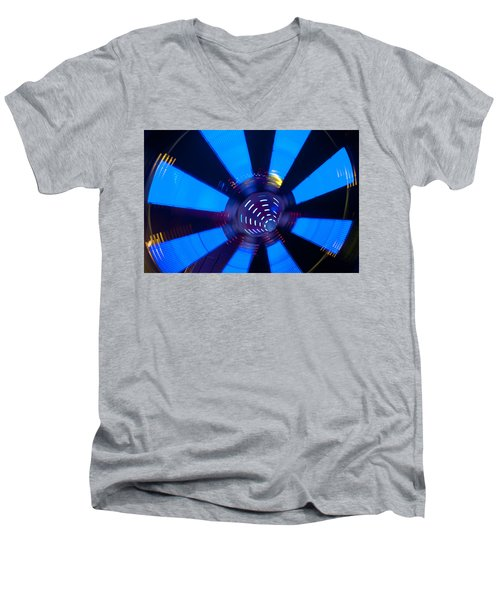 Fairground Abstract Vi Men's V-Neck T-Shirt by Helen Northcott