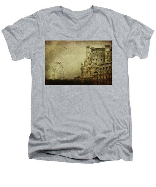 Fairground Men's V-Neck T-Shirt by Andrew Paranavitana