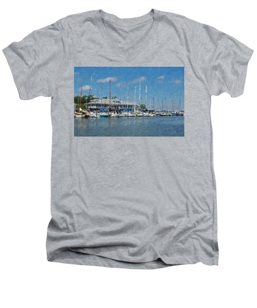 Fairhope Yacht Club Impression Men's V-Neck T-Shirt