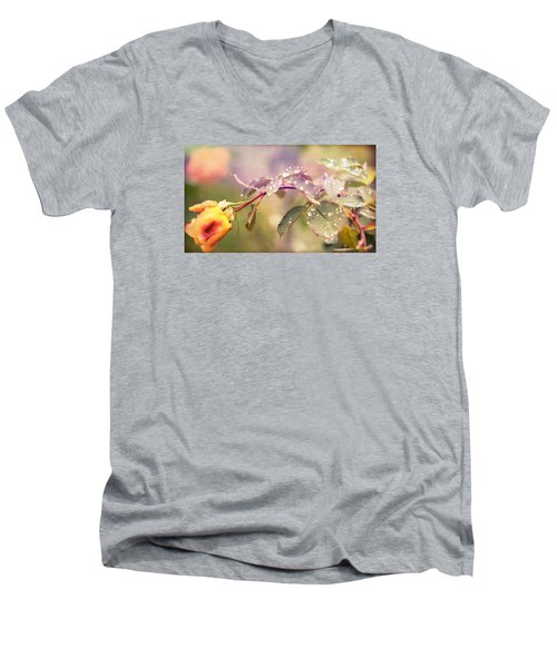 Fairy Drops Men's V-Neck T-Shirt by Cathy Donohoue