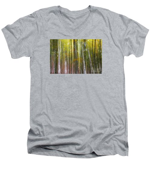 Fairy Forest I Men's V-Neck T-Shirt by Yuri Santin