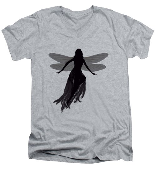 Fairy Silhouette Men's V-Neck T-Shirt by Tom Conway