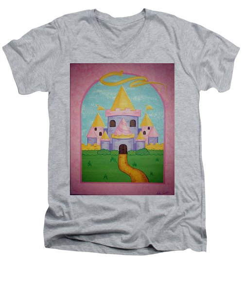 Fairytale Castle Men's V-Neck T-Shirt