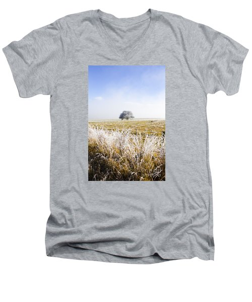 Men's V-Neck T-Shirt featuring the photograph Fairytale Winter In Fingal by Jorgo Photography - Wall Art Gallery