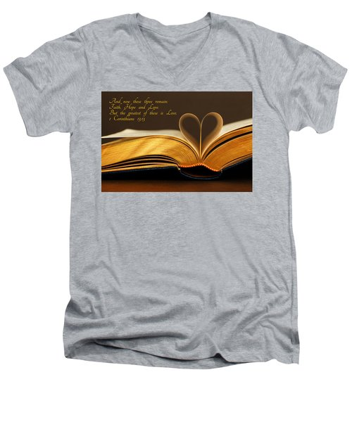 Faith. Hope. Love. Men's V-Neck T-Shirt