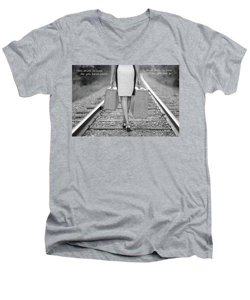 Faith In Your Journey Men's V-Neck T-Shirt