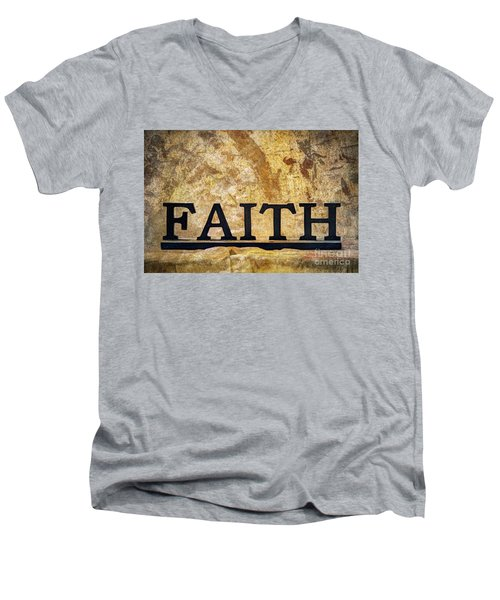 Men's V-Neck T-Shirt featuring the photograph Faith by Randy Steele