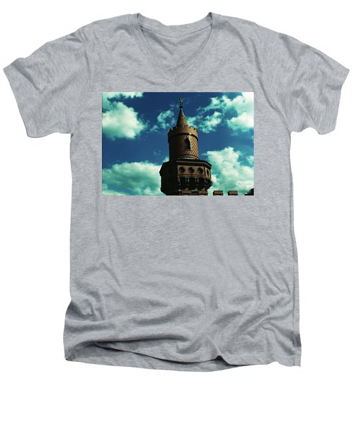 Fake German Castle Or Oberbaumbruecke Men's V-Neck T-Shirt