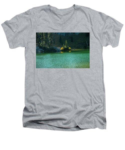 Fall Afternoon On Sheep Lake Men's V-Neck T-Shirt