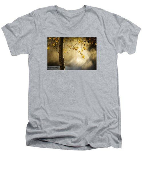 Fall And Fog Men's V-Neck T-Shirt by Celso Bressan