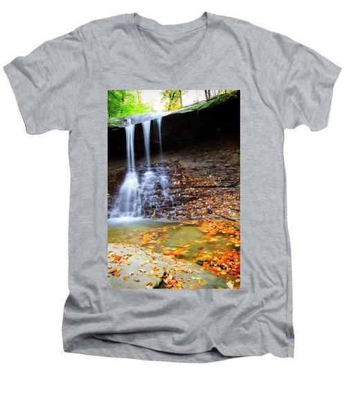 Fall At Blue Hen Falls Men's V-Neck T-Shirt
