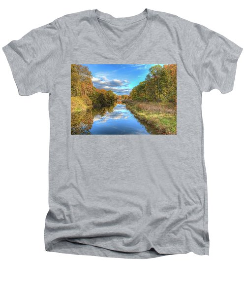 Fall At Brunswick Lake  Men's V-Neck T-Shirt by Brent Durken