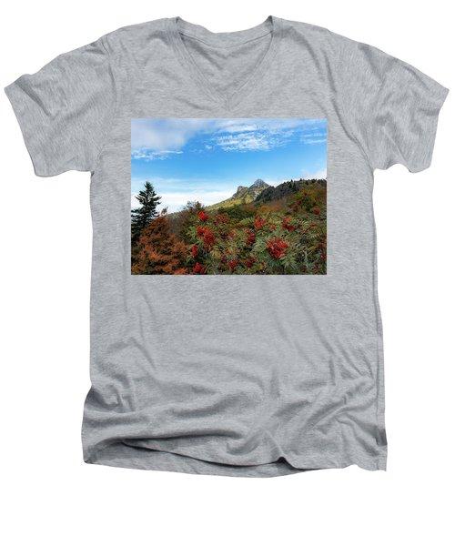 Fall At Grandfather Mountain Men's V-Neck T-Shirt