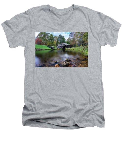 Fall At Mabry Mill Men's V-Neck T-Shirt