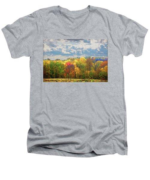 Fall At Shaw Men's V-Neck T-Shirt