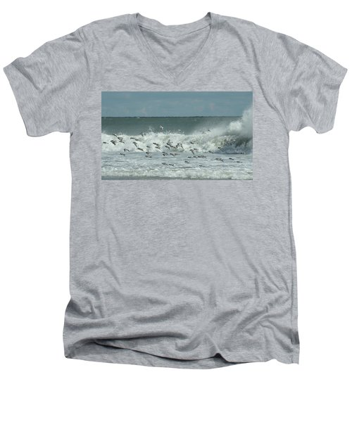 Fall At The Shore Men's V-Neck T-Shirt