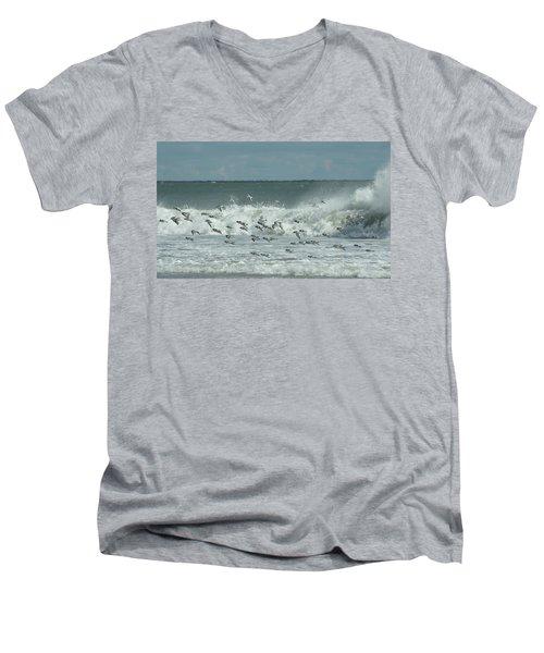 Fall At The Shore Men's V-Neck T-Shirt
