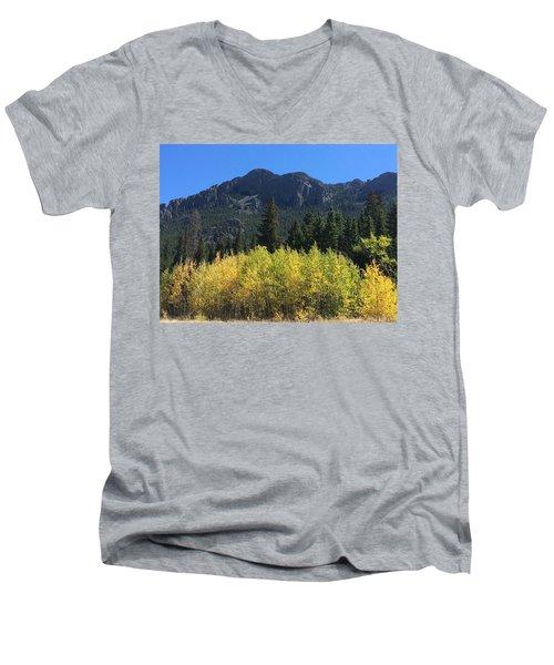 Fall At Twin Sisters Men's V-Neck T-Shirt