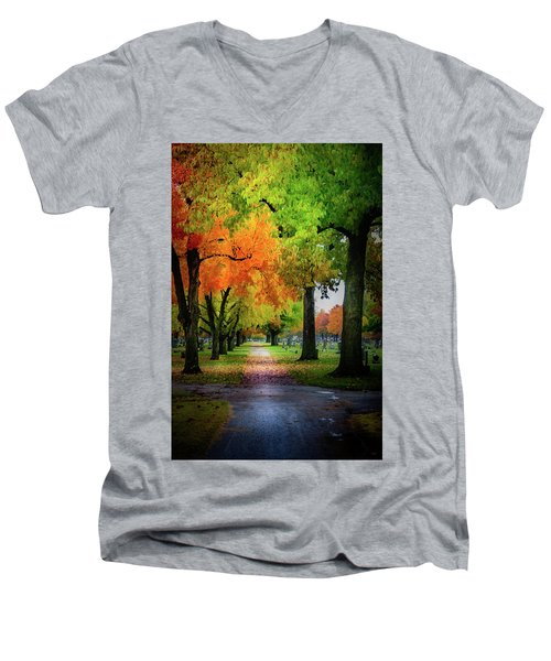 Fall Color Men's V-Neck T-Shirt