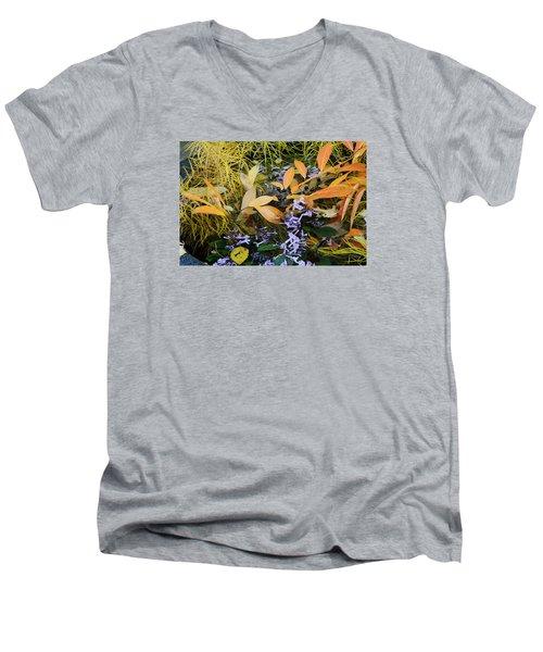 Men's V-Neck T-Shirt featuring the photograph Fall Color Soup by Deborah  Crew-Johnson